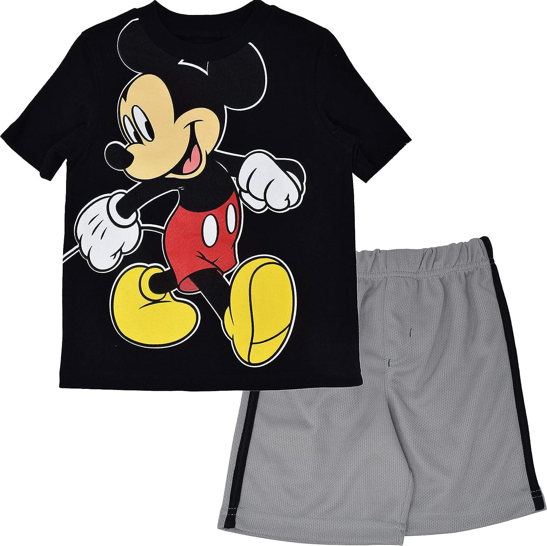 Disney Mickey Mouse Baby Boys T-Shirt and Mesh Shorts Set