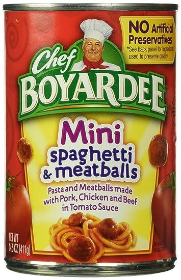 Chef boyardee vegetarian