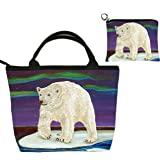 Polar Bear Small Purse and Marching Change Purse - Great Gift Set for Young Girls - From My Painting