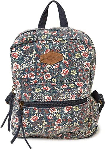 O Neill Women's Basic Lightweight Mini Canvas Backpack Abyss Valley Mini