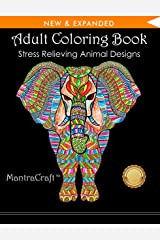 Adult Coloring Book: Stress Relieving Animal Designs Paperback