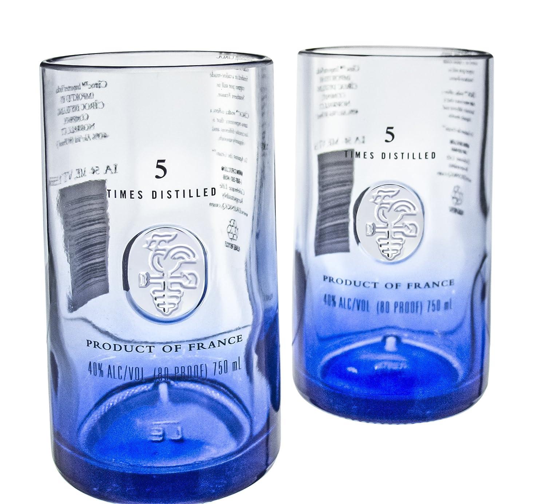 Amazon.com | Ciroc Premium Vodka Reclaimed Bottles Glassware Barware Drinkware Tumbler Glasses Gift Set: Tumblers & Water Glasses
