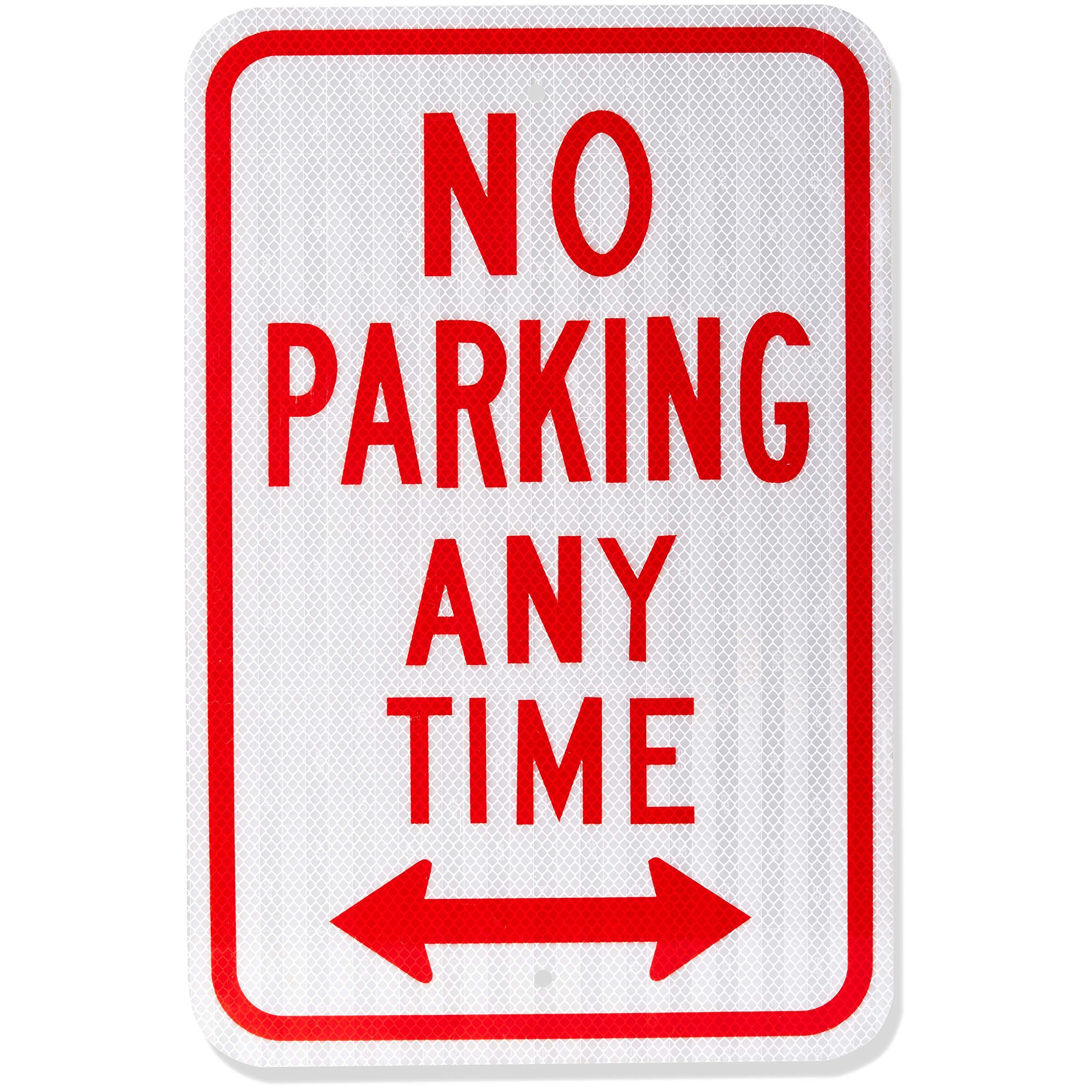 AmazonBasics No Parking Sign, No Parking Anytime, 18'' x 12''