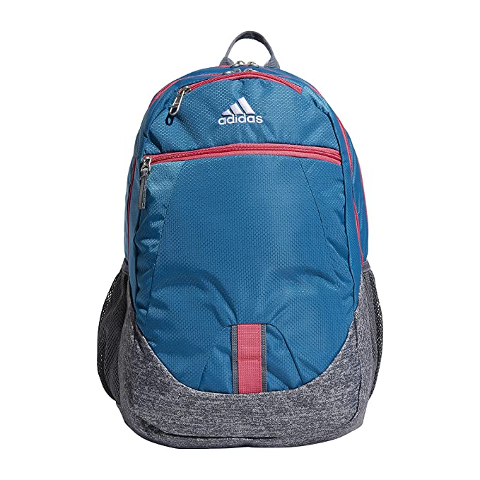 63c705c47fc Amazon.com: adidas Foundation Backpack, Active Teal Jersey/Real Pink ...
