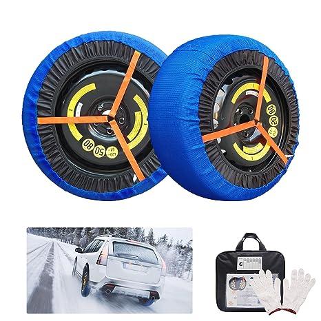 Fundas de nieve para coche, de lujo, para tracción de neumáticos de coche,