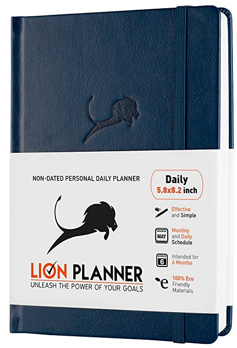 Goal Planner 2019-2020 Calendar and Gratitude Journal to Increase Productivity, Time Management & Happiness | Vegan Leather Hardcover, 24-Hourly ...