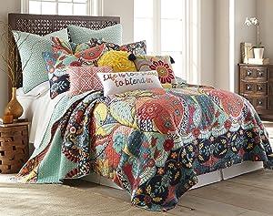 Levtex Jules King Quilt Set, Cotton, Multicolor