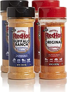 product image for Frank's RedHot Seasoning Blends Original & Buffalo Ranch Variety Pack, 4.12oz and 4.75oz (Pack of 4)