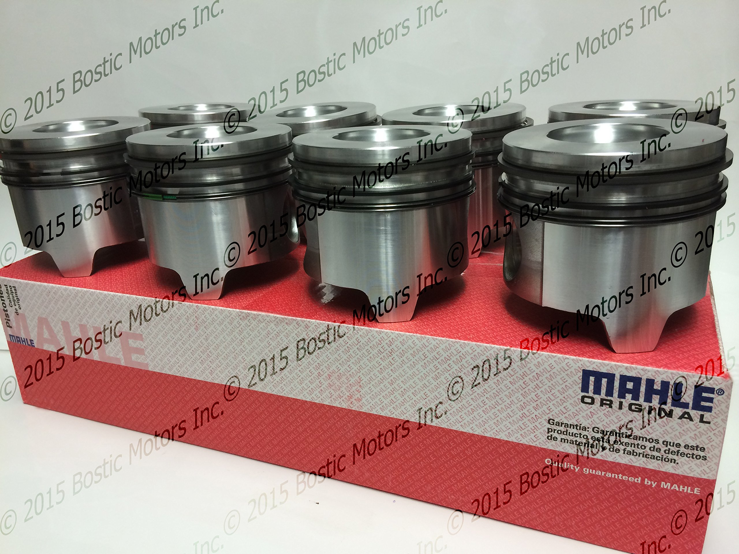 Ford 7.3 7.3L Diesel Pistons Standard Bore w// Rings 95-03 MAHLE Clevite Set of 8