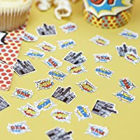 Ginger Ray Pop Art Superhero Birthday Decorations Table Party Confetti, Mixed (PA-109)