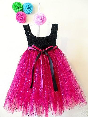 Vestido De Crochet Con Tul Para Niña Bebé Talla 18 24