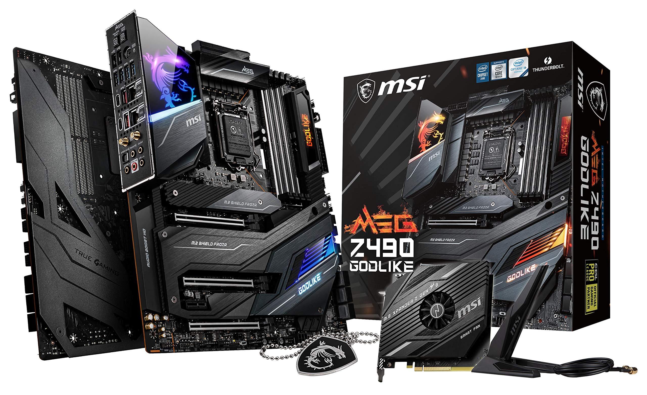 MSI MEG Z490 GODLIKE Gaming Motherboard (E-ATX, 10th Gen Int