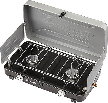 Outwell Gourmet 2-Burner Campingkocher mit Deckel