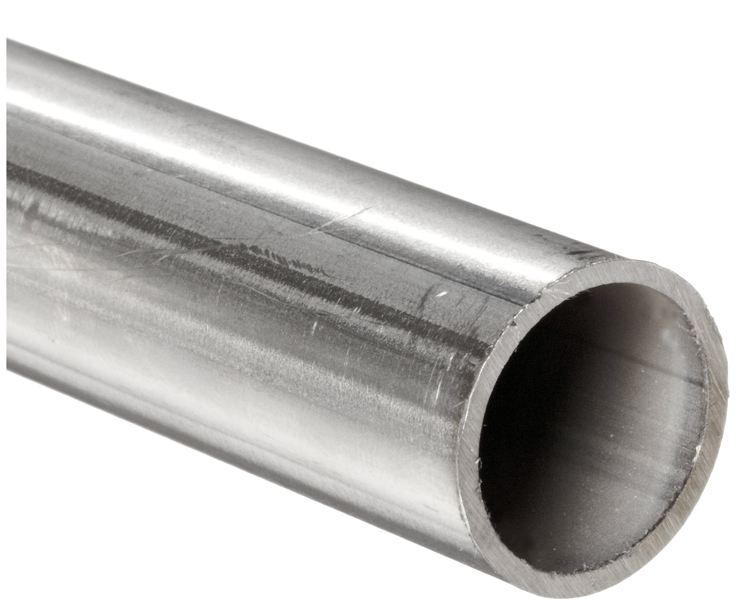 Stainless Steel 304L Welded Round Tubing, 1/2'' OD, 0.43'' ID, 0.035'' Wall, 36'' Length