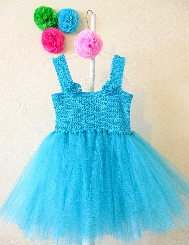 879239a68 Vestido de Crochet con Tul para Niña Talla 3 a 4 Años  Amazon.com.mx   Handmade
