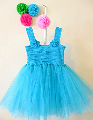 Vestido De Crochet Con Tul Para Niña Talla 3 A 4 Años