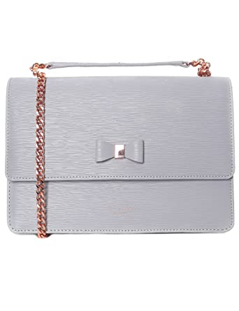 Ted Baker Bow Detail Women s Delila Bag GREY ONE  Amazon.co.uk  Clothing 4f05aec73ddbb