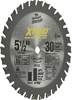 5 1 2 circular saw blade. vermont american 26133 10mm arbor 5-1/2-inch 30 tooth xtend fine 5 1 2 circular saw blade .