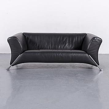 Amazon.de: Rolf Benz 322 Leder Sofa Schwarz Zweisitzer Couch ...