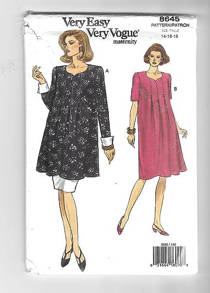 Amazon Vogue 8643 Maternity Wear Dress Tunic Skirt Sewing