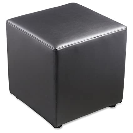 Lorell(R) Collaborative Seating Cube Chair Bonded Leather Black  sc 1 st  Amazon.com & Amazon.com: Lorell(R) Collaborative Seating Cube Chair Bonded ...