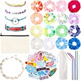 R HORSE 78 Pcs VSCO Stuff for Girls Including VSCO Sticker for Hydro Flask Friendship Wave Bracelets Puka Shell Choker…