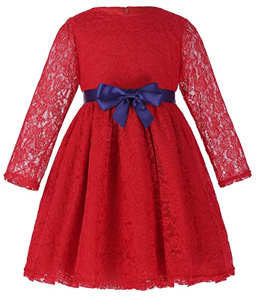 Kids 1950s Clothing & Costumes: Girls, Boys, Toddlers TrendyFashion Girls 3/4 Sleeve Round Neck Lace Kids Dresses $24.99 AT vintagedancer.com