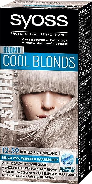 Syoss Blond Cool Blonds Haarfarbe 12 59 Kuhles Platinblond Stufe