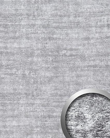 Panel decorativo autoadhesivo de diseño hormigón WallFace 16429 URBAN con marcas del encofrado gris claro 2