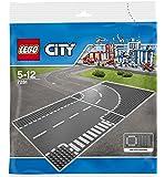 レゴ (LEGO) シティ ロードプレート T字路+カーブ(2枚入り) 7281
