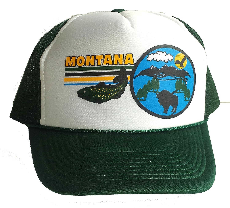 5f26fbf52 Montana Snapback Trout Buffalo Mesh Trucker Hat Cap (Gold) at Amazon ...