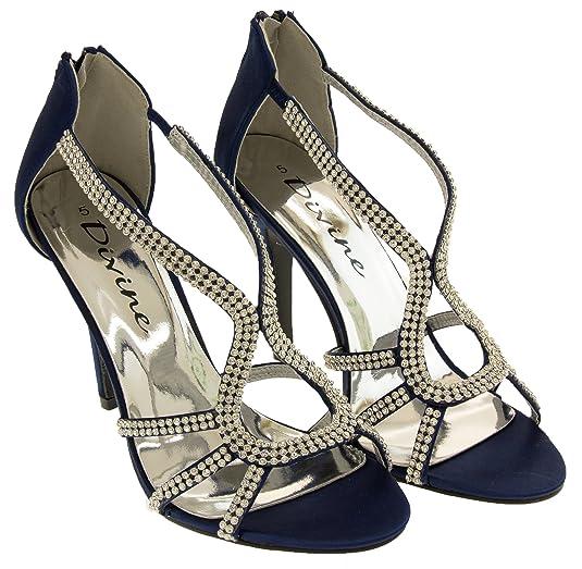 Divine Donna Raso di Diamante Scarpe Tacchi Alti: Amazon.it: Scarpe e borse