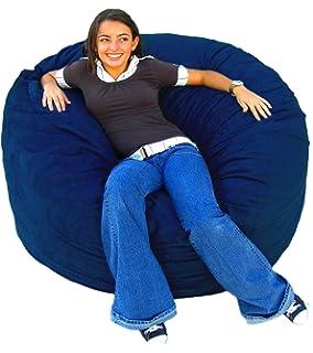 Cozy Sack 4 Feet Bean Bag Chair Large Navy