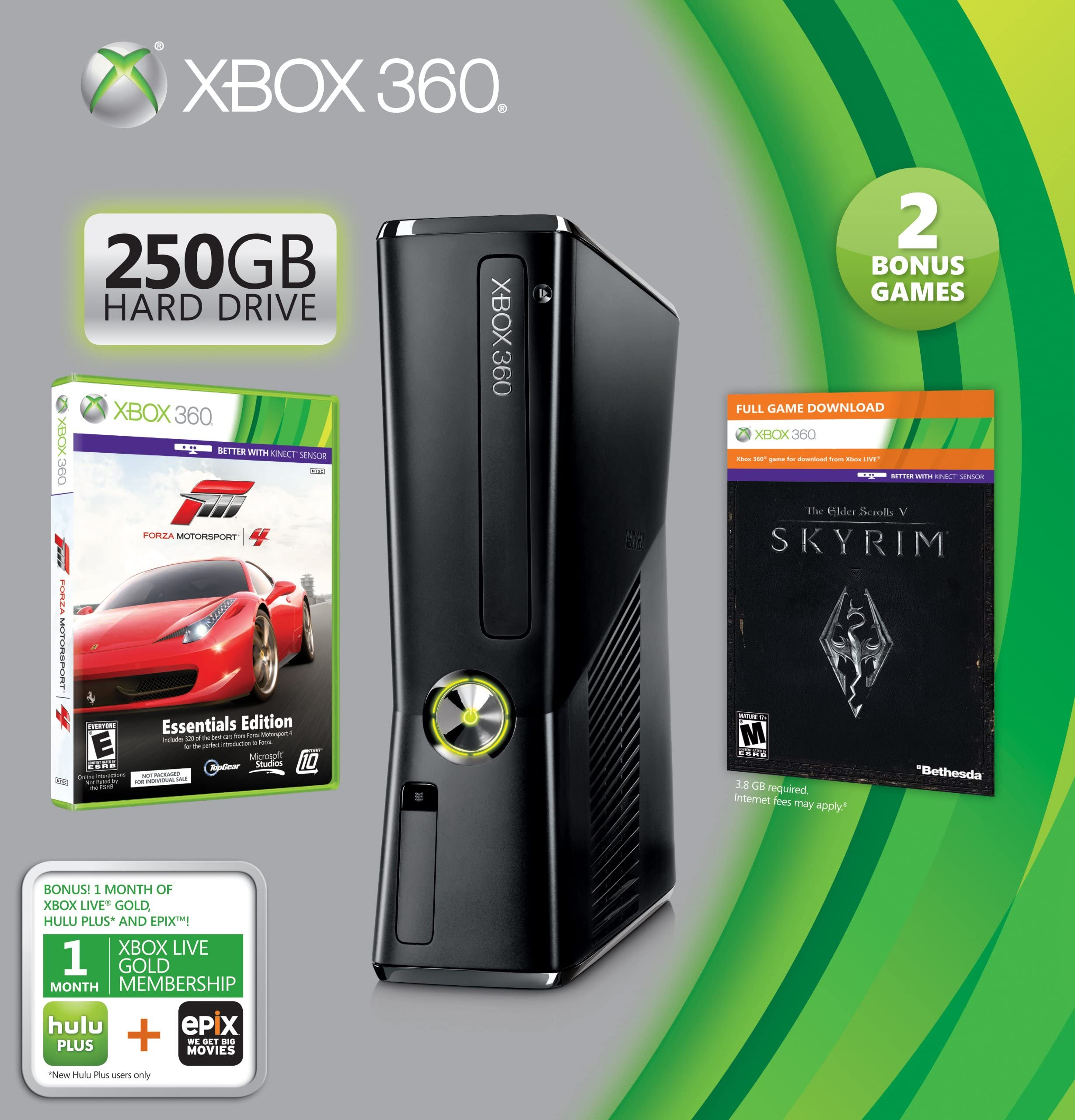 Amazon.com: Xbox 360 250GB Holiday Value Bundle: microsoft xbox 360 ...
