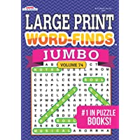 Jumbo LARGE PRINT Word-Finds Puzzle Book-Word Search Volume 74