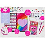 Crayola Creations Furry Journal Super Set, Colour and Customize Craft, Includes Stickers, Gems and Googly Eyes!