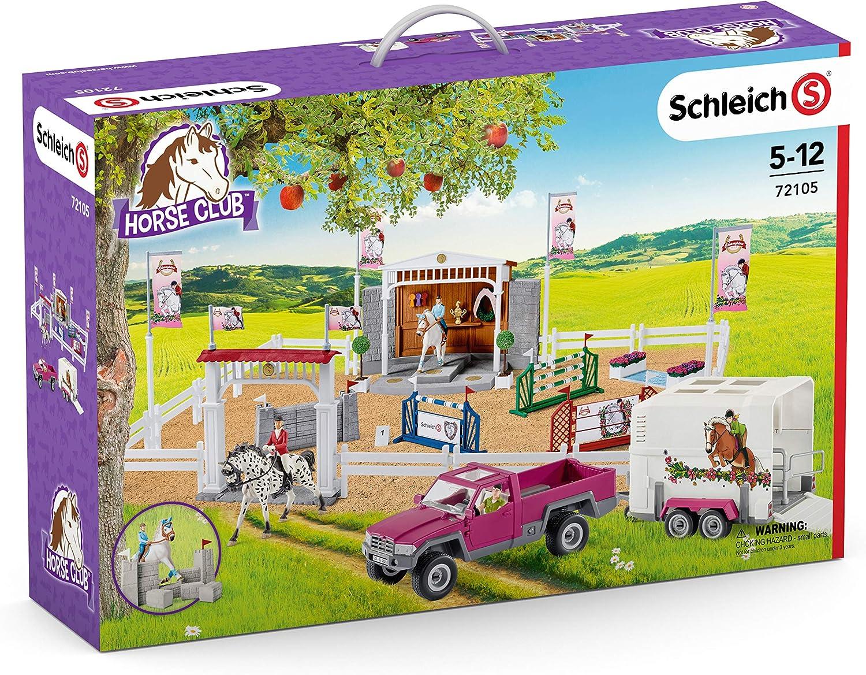 Schleich- Gran Escuela de equitación con Pick up y Remolque (Horse Club) (72105)