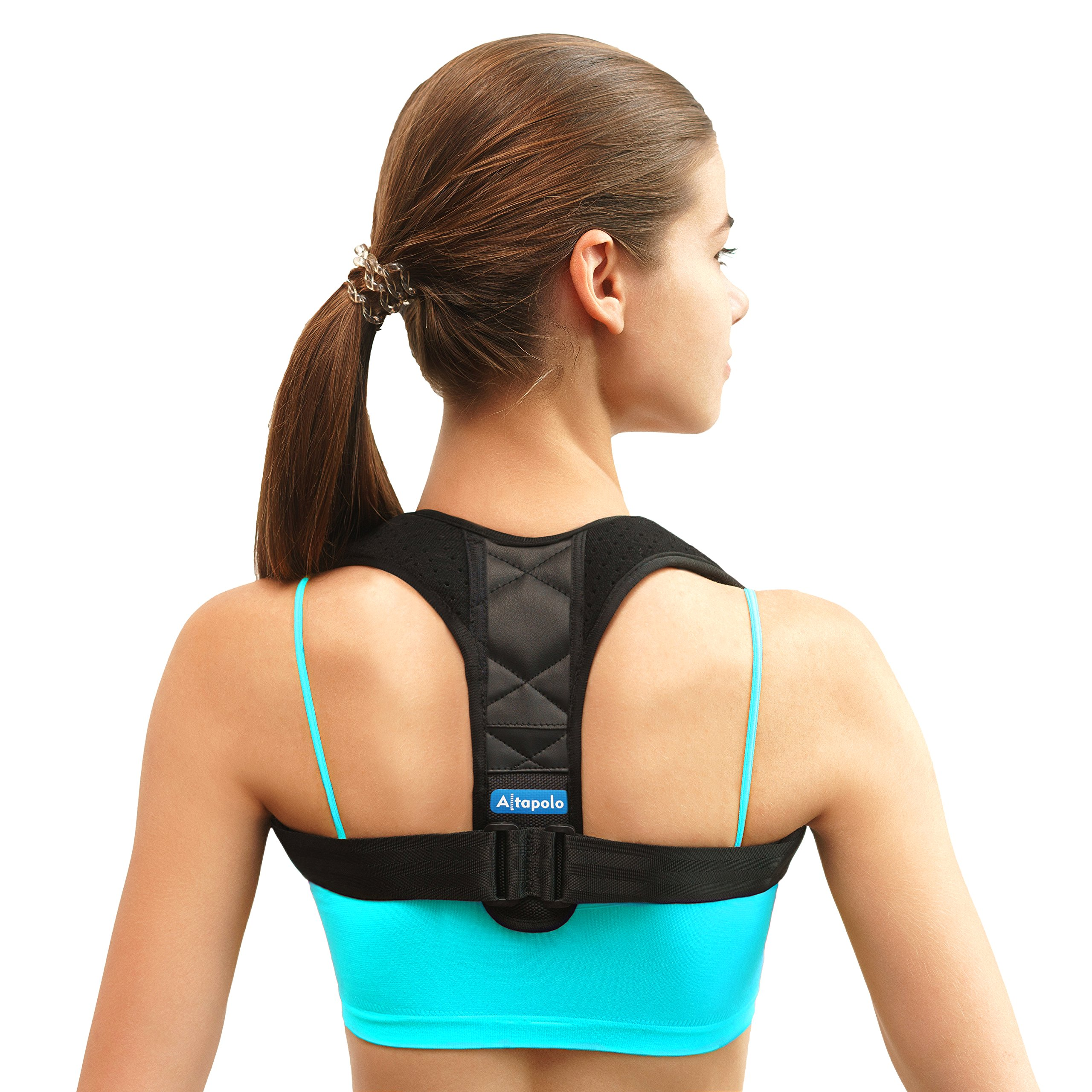 Shoulder Posture Corrector for Men & Women - Adjustable Clavicle Brace and Shoulder Posture Brace for Injury Rehab & Alignment - Improve Back with Figure 8 Shoulder Brace for Slouching & Hunching