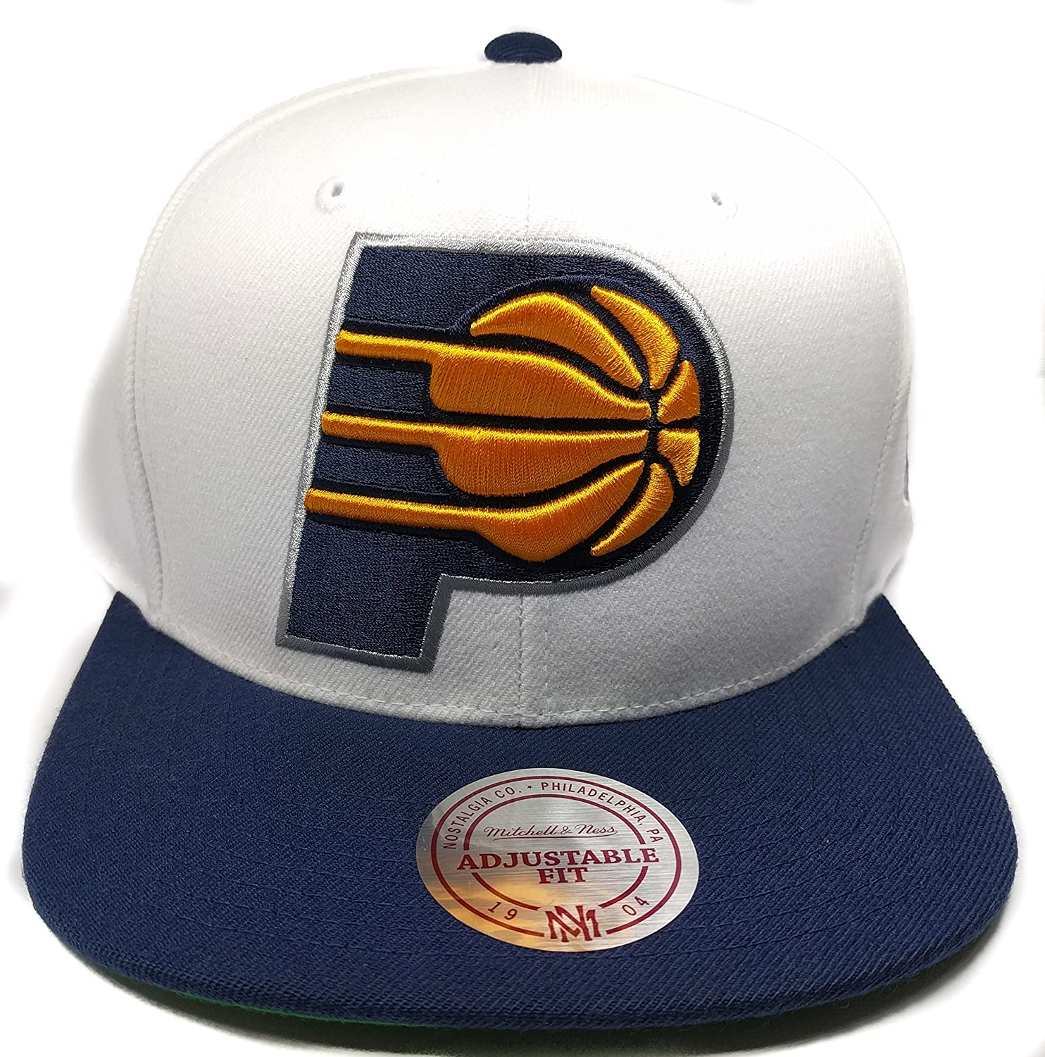 pretty nice 453d3 82b7c Mitchell   Ness Indiana Pacers XL Logo Classic Adjustable Snapback Hat NBA  at Amazon Men s Clothing store