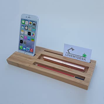 Wooden Desk Organiser Multi Functional Bamboo Desk Tidy With Phone Stand Pen Holder Memo Slot Office Gift Gifts For Him Desk Gifts Desk