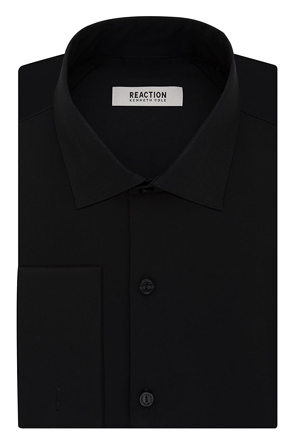 Kenneth Cole Reaction Mens Technicole Slim Fit French Cuff Dress