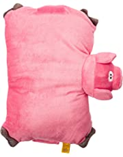 Go Travel Pig Folding Pillow,-Pink, One Size