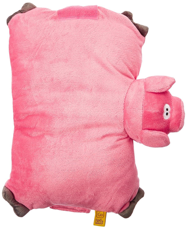 Go Travel Pig Folding Pillow,-Pink, One Size Design Go LTD 2692 Pig Folding Pillow