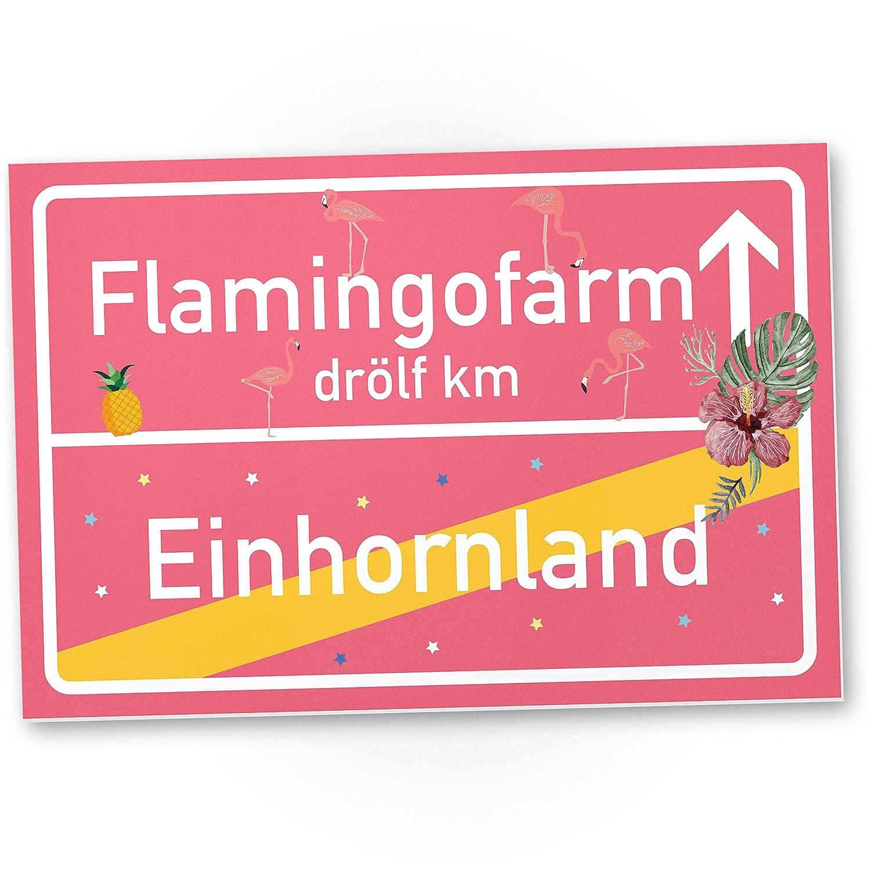 Unicorno Flamingo scudo, scudo–Ort lavagna Rosa, dolce decorazione della parete, decorazione porta per maedels Appartamento, ragazza della Camera da letto, IDEE REGALO DI COMPLEANNO, regalo divertente sorpresa–migliore amico scudo-Ort lavagna Rosa Ko