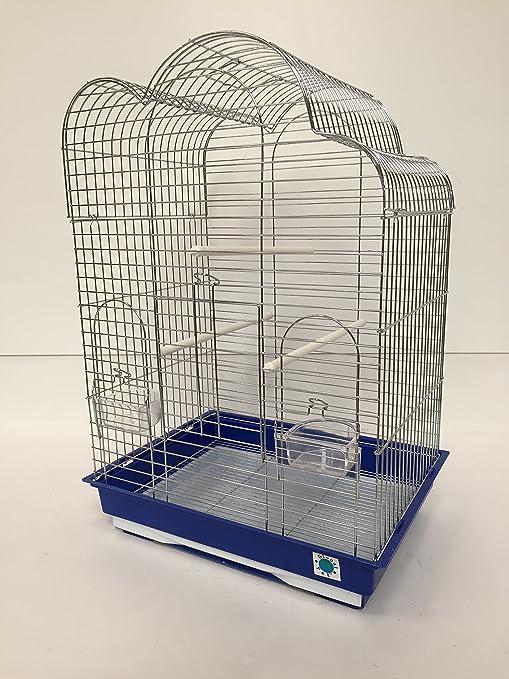Anna cromado - jaula para pájaros, 70 x 48 x 36 cm): Amazon ...