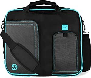 Vangoddy Aqua Laptop Briefcase Messenger Shoulder Travel, Business, School Bag for Acer 15.6 inch Laptops