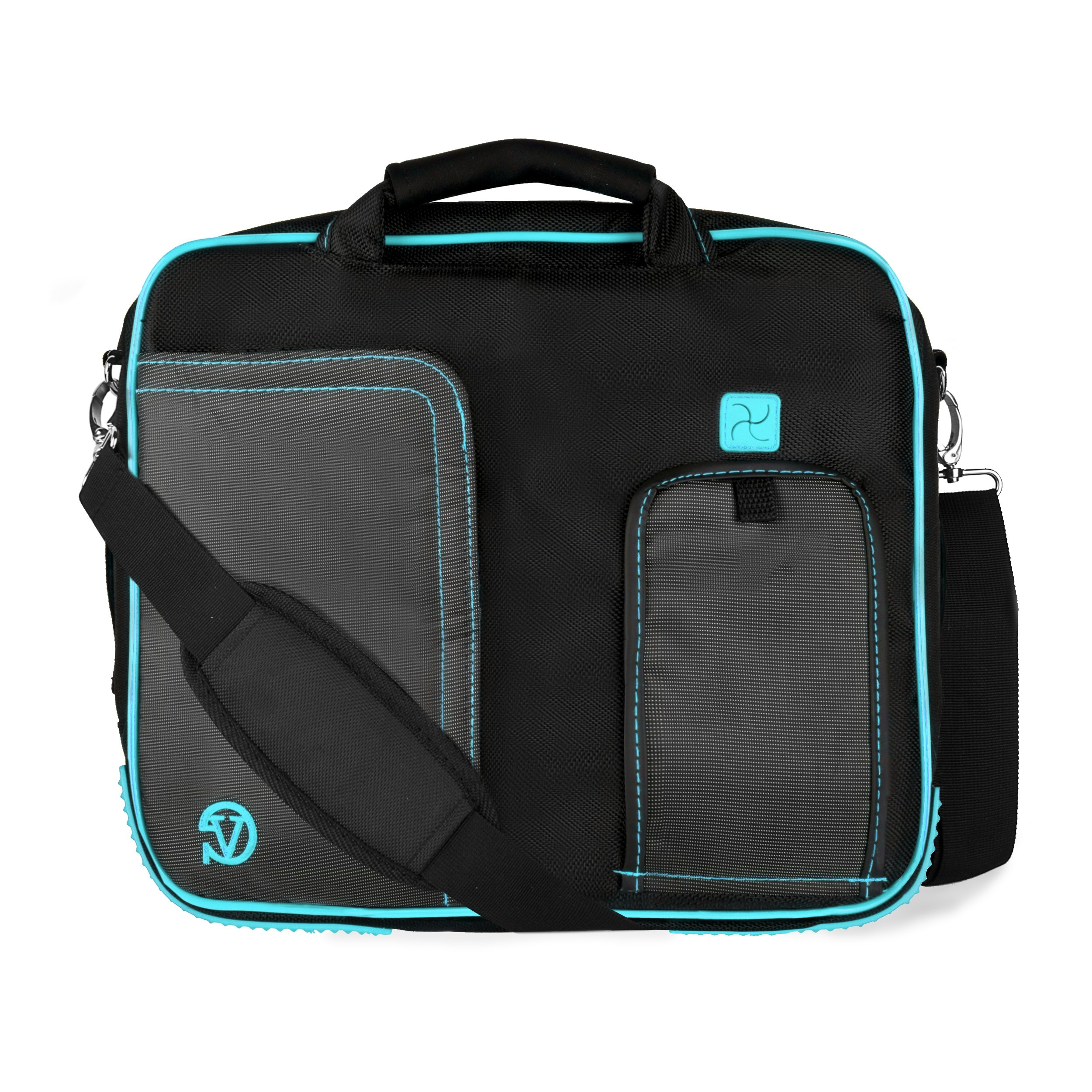 Business/Travel/College Aqua Messenger Bag/Briefcase for 15.4'' Apple MacBooks