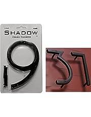 "NACH hh-sdw6-blk-9 Shadow House Address Outdoor Plaque, 6"", Number 9, Black Aluminium"