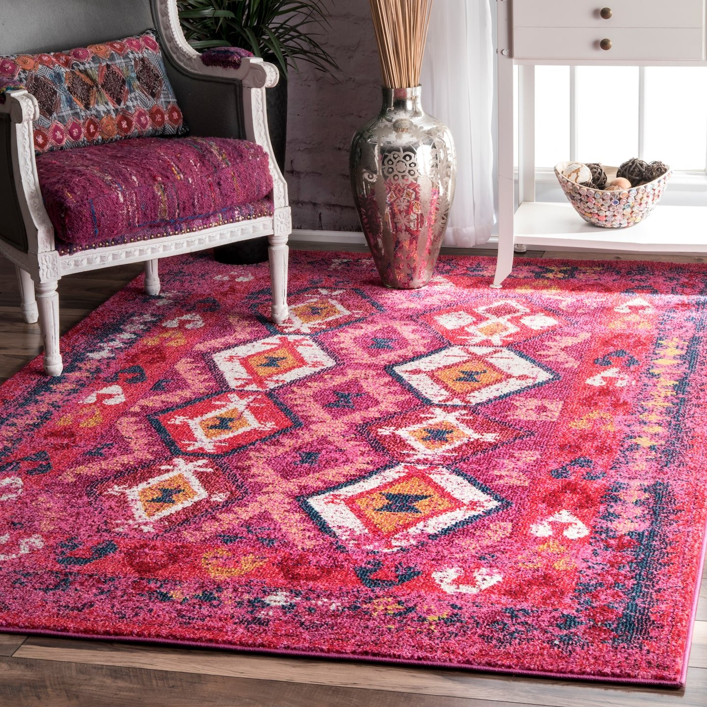 nuLOOM Mayola Tribal Area Rug, 5 x 8 , Pink