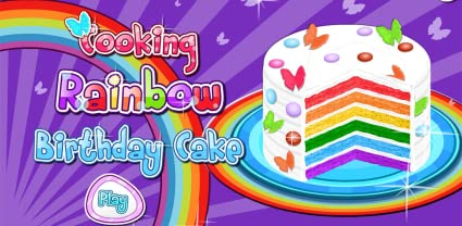 Amazon Cooking Rainbow Birthday Cake Appstore For Android